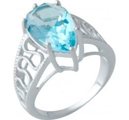 Серебряное кольцо SilverBreeze с аквамарином nano (1997505) 17.5 размер