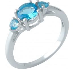 Серебряное кольцо SilverBreeze с аквамарином nano (2001416) 17.5 размер