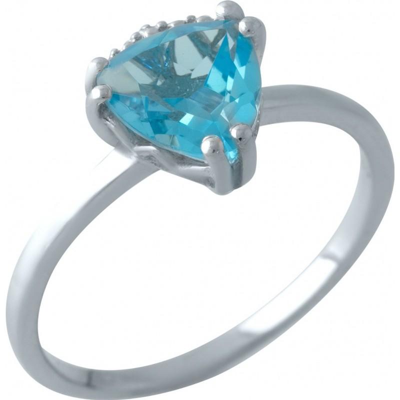 Серебряное кольцо SilverBreeze с аквамарином nano (2012528) 17 размер