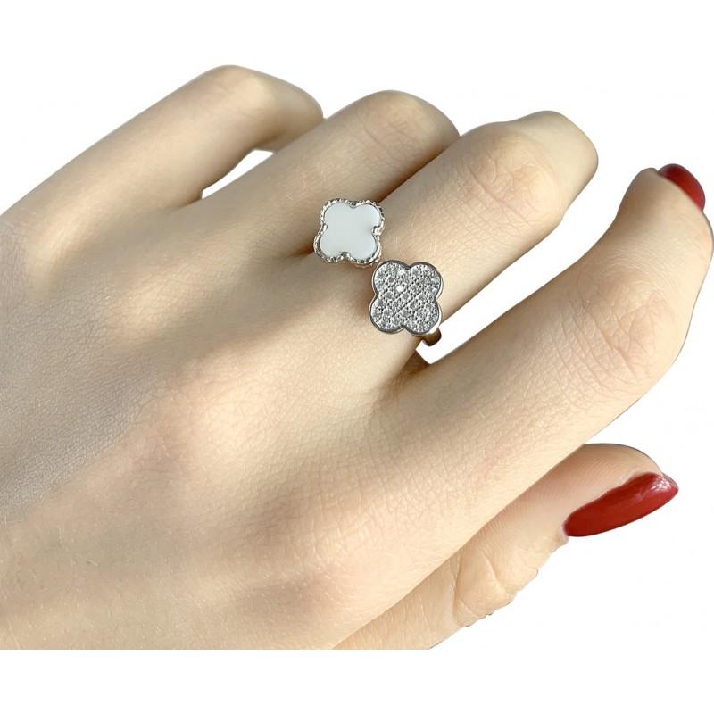 Серебряное кольцо SilverBreeze с емаллю (1985830) Регулируемый размер
