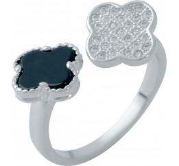 Серебряное кольцо SilverBreeze с емаллю (1985847) Регулируемый размер
