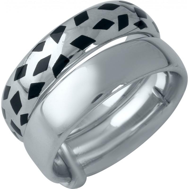 Серебряное кольцо SilverBreeze с емаллю (1985939) 16 размер