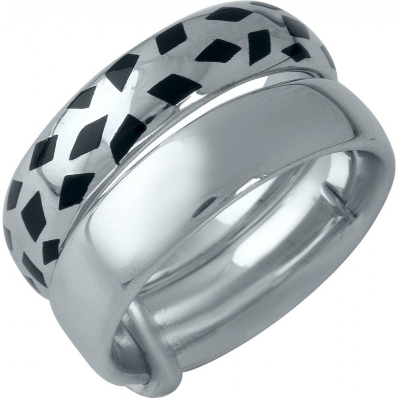 Серебряное кольцо SilverBreeze с емаллю (1985939) 19 размер