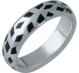 Серебряное кольцо SilverBreeze с емаллю (1985953) 18.5 размер