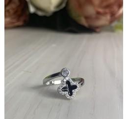 Серебряное кольцо SilverBreeze с емаллю (2000068) 18 размер