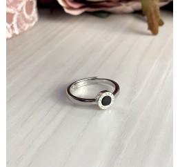 Серебряное кольцо SilverBreeze с емаллю (2000303) Регулируемый размер
