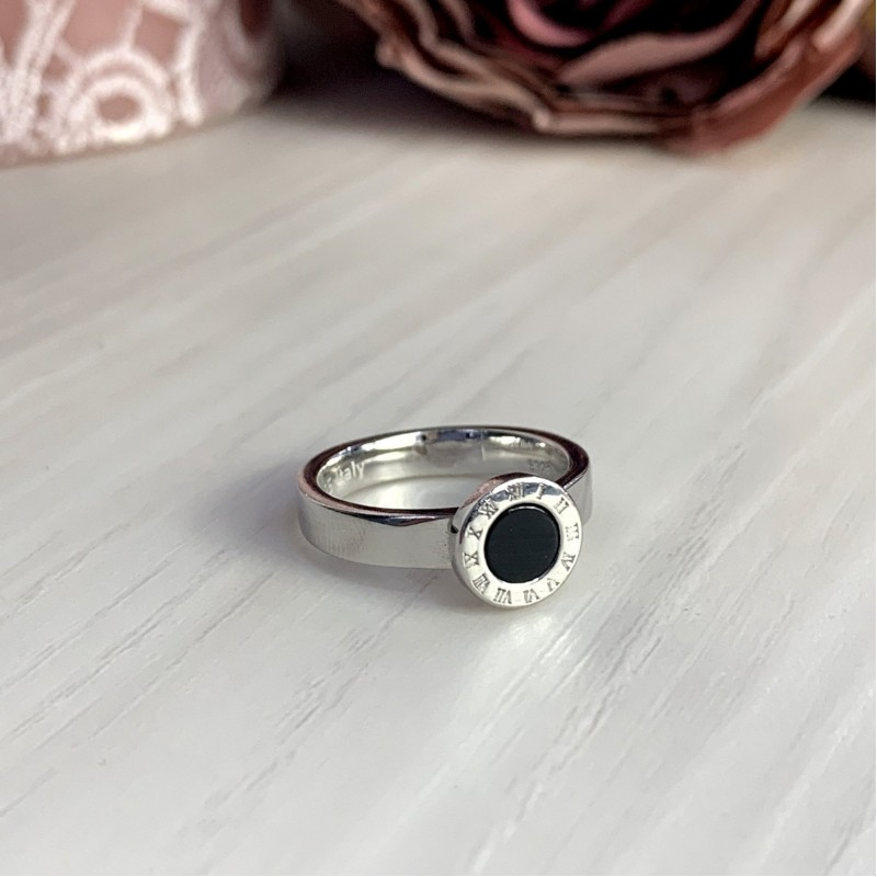 Серебряное кольцо SilverBreeze с емаллю (2000334) 16.5 размер