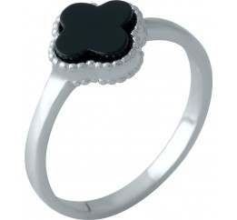 Серебряное кольцо SilverBreeze с емаллю (2000358) 17 размер