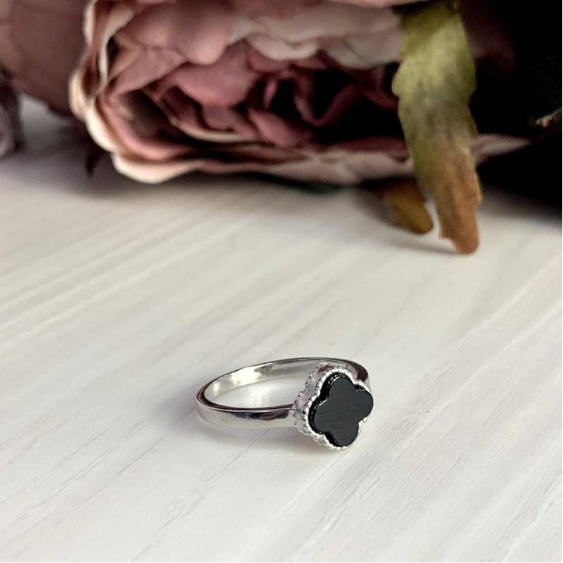 Серебряное кольцо SilverBreeze с емаллю (2000358) 18 размер