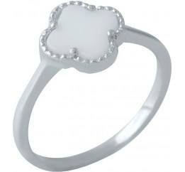 Серебряное кольцо SilverBreeze с емаллю (2001614) 17 размер