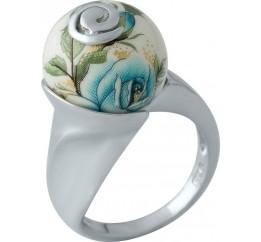 Серебряное кольцо SilverBreeze с емаллю (2003823) 17.5 размер