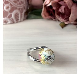 Серебряное кольцо SilverBreeze с емаллю (2003854) 17.5 размер