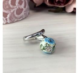 Серебряное кольцо SilverBreeze с емаллю (2003977) 17 размер