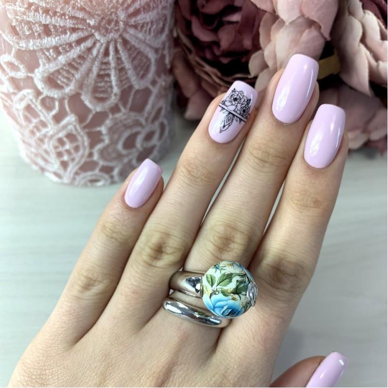 Серебряное кольцо SilverBreeze с емаллю (2003977) 18 размер
