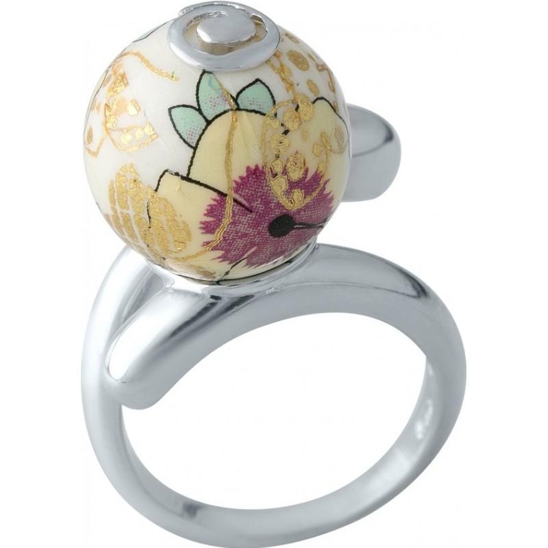 Серебряное кольцо SilverBreeze с емаллю (2003991) 17.5 размер