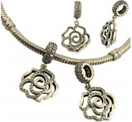 Серебряный шарм SilverBreeze с фианитами (1436530)