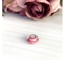 Серебряный шарм SilverBreeze с стеклом Мурано (2003878)