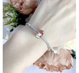 Серебряный шарм SilverBreeze с стеклом Мурано (1967553)
