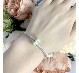 Серебряный шарм SilverBreeze с стеклом Мурано (1967546)