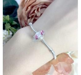 Серебряный шарм SilverBreeze с стеклом Мурано (1940228)