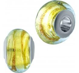 Серебряный шарм SilverBreeze с стеклом Мурано (1910436)