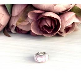 Серебряный шарм SilverBreeze с стеклом Мурано (1909966)