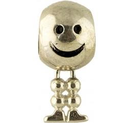 Серебряный шарм SilverBreeze без камней (1344064)