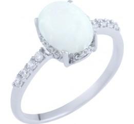Серебряное кольцо SilverBreeze с опалом (0474175) 17 размер