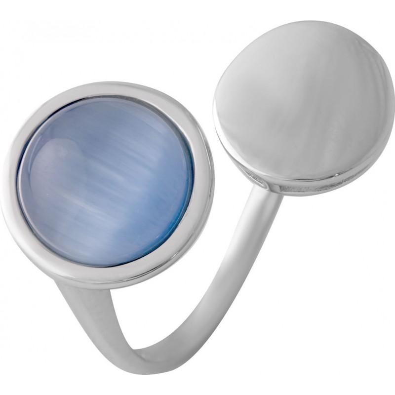 Серебряное кольцо SilverBreeze с кошачим глазом (2015611) 18.5 размер