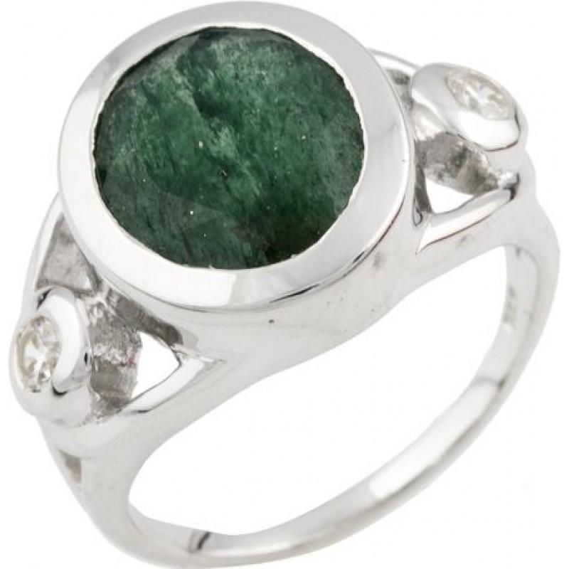 Серебряное кольцо SilverBreeze с натуральным авантюрином (0474625) 17 размер