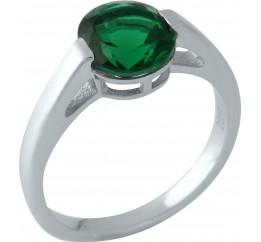 Серебряное кольцо SilverBreeze с изумрудом nano (1959596) 17.5 размер