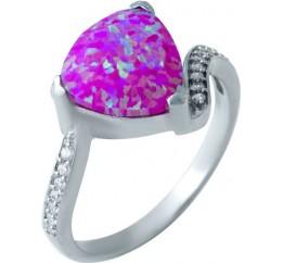 Серебряное кольцо SilverBreeze с опалом (1921548) 18 размер