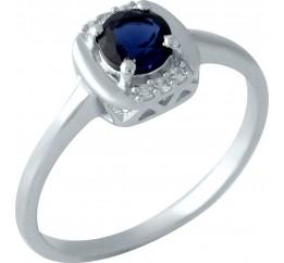 Серебряное кольцо SilverBreeze с сапфиром nano (1959251) 17.5 размер