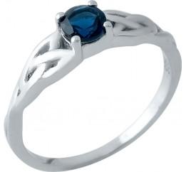 Серебряное кольцо SilverBreeze с сапфиром nano (1969557) 18 размер