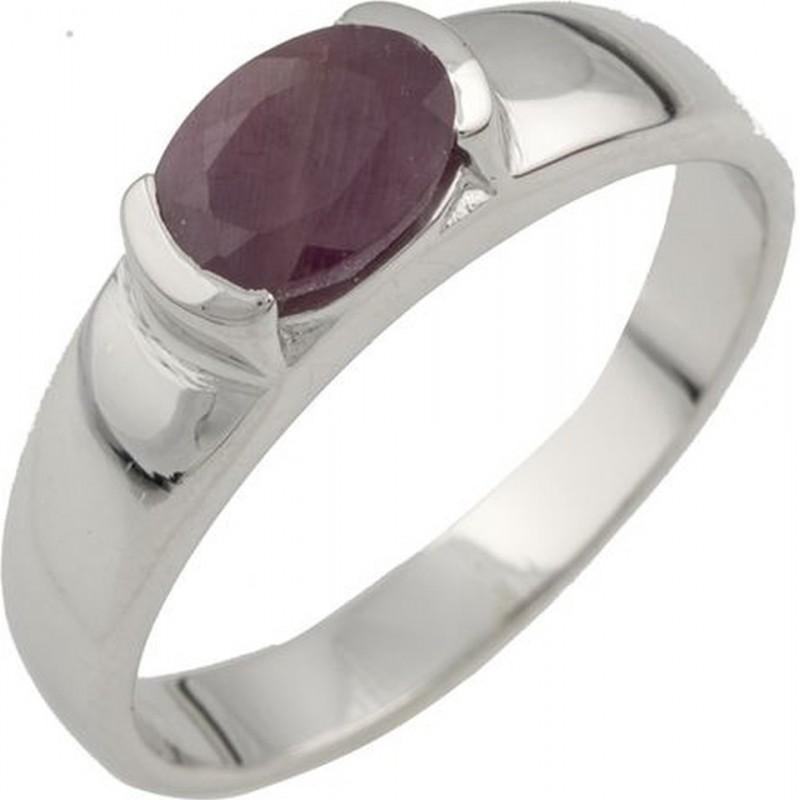 Серебряное кольцо SilverBreeze с натуральным рубином (0476896) 17 размер