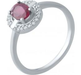 Серебряное кольцо SilverBreeze с натуральным рубином (2021940) 17.5 размер