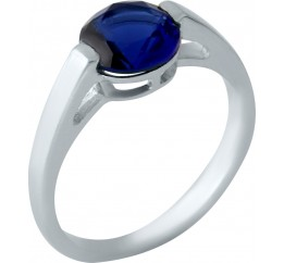 Серебряное кольцо SilverBreeze с сапфиром nano (1959282) 17.5 размер