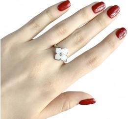 Серебряное кольцо SilverBreeze с керамикой (1982303) 18 размер