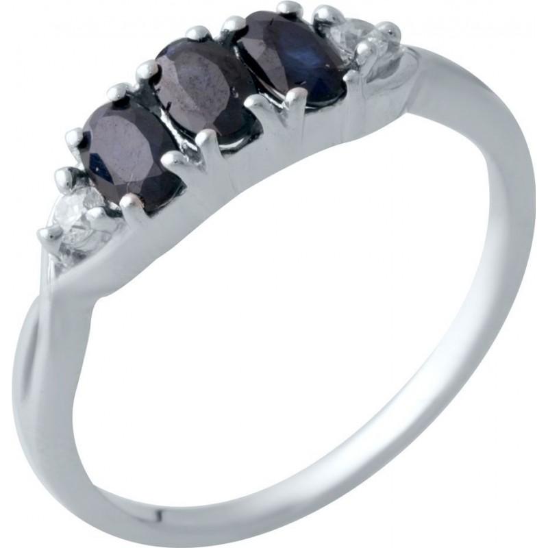 Серебряное кольцо SilverBreeze с натуральным сапфиром (2021971) 17.5 размер