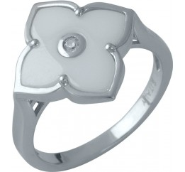 Серебряное кольцо SilverBreeze с керамикой (1982303) 16.5 размер