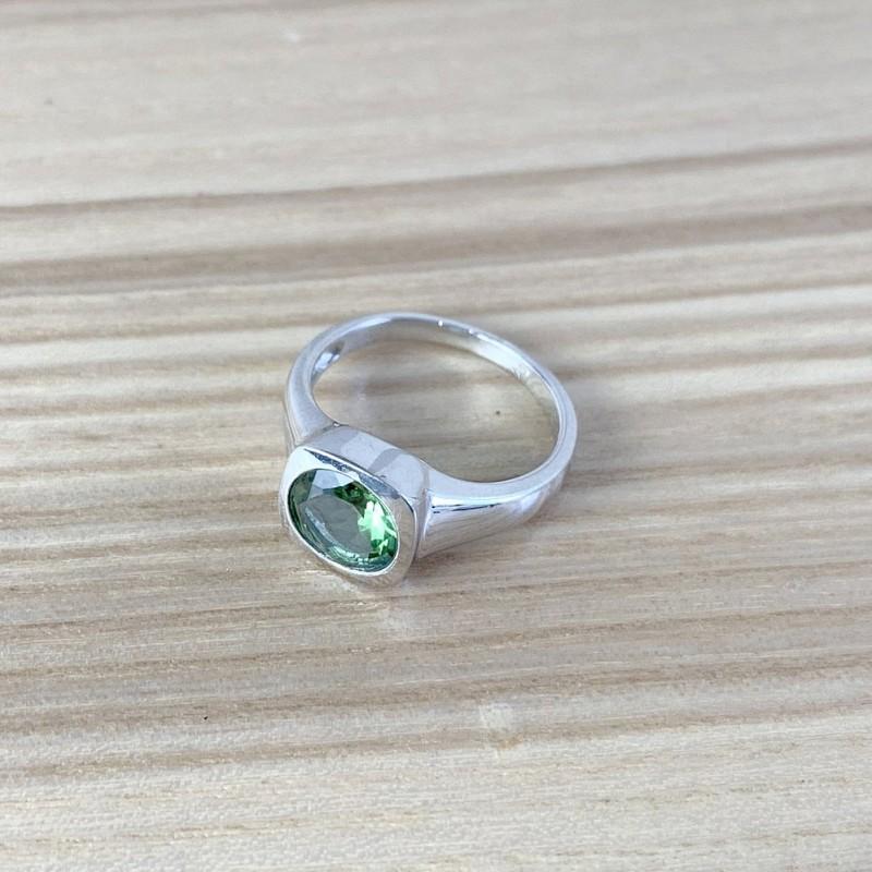 Серебряное кольцо SilverBreeze с Султанит султанитом (1990209) 17 размер