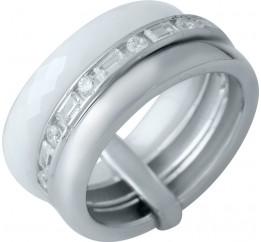 Серебряное кольцо SilverBreeze с керамикой (1978047) 18.5 размер