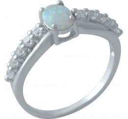 Серебряное кольцо SilverBreeze с опалом (2009382) 18.5 размер