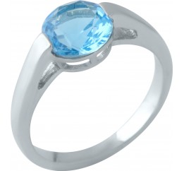 Серебряное кольцо SilverBreeze с аквамарином nano (1960196) 17.5 размер