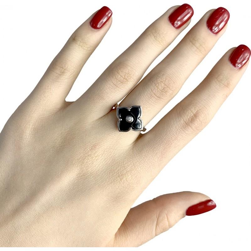 Серебряное кольцо SilverBreeze с керамикой (1982341) 18 размер