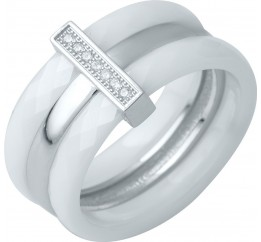 Серебряное кольцо SilverBreeze с керамикой (0481791) 17 размер