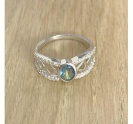 Серебряное кольцо SilverBreeze с натуральным мистик топазом (1949719) 18.5 размер