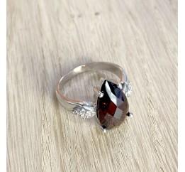 Серебряное кольцо SilverBreeze с натуральным гранатом (1531785) 17.5 размер