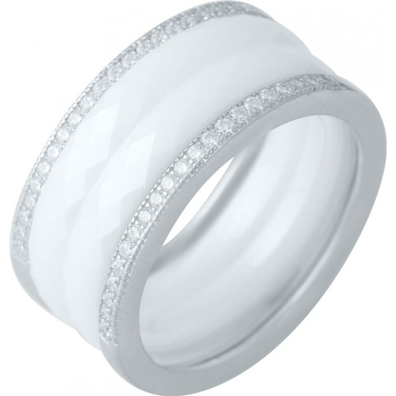 Серебряное кольцо SilverBreeze с керамикой (1978115) 17 размер
