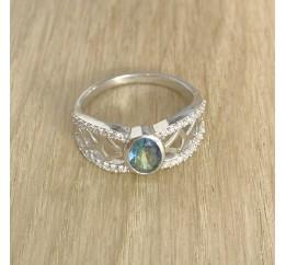 Серебряное кольцо SilverBreeze с натуральным мистик топазом (1949719) 17 размер